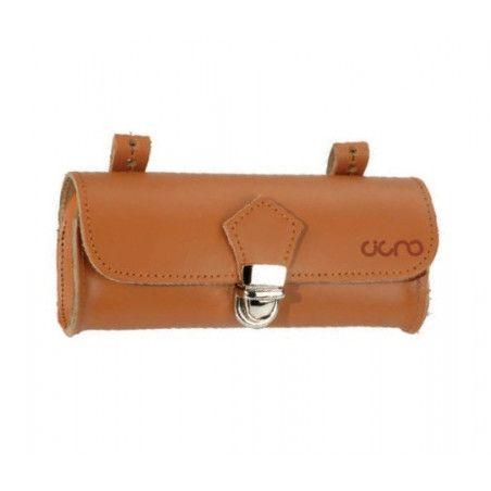 Oval Leather Handbag saddle honey