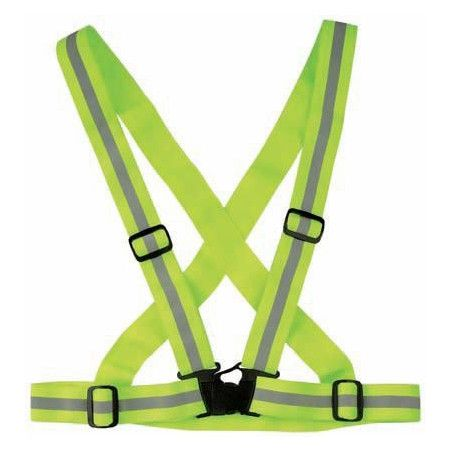 Reflective Band in adjustable belt to cross