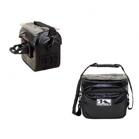 the Handlebar Bag M-Wave 100% waterproof with quick 7 liters
