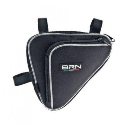 Handbag double pocket black triangle