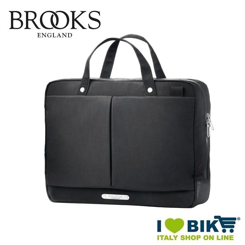... Shoulder Bag Postman canvas fabric black and black leatherette Vintage.  Reduced price. New Street Brooks Business Bag 590d5206f6f5f