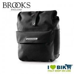 Borsa Brooks Norfolk anteriore nera vendita online