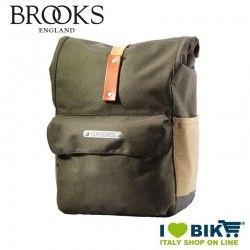 Borsa Brooks Norfolk anteriore Verde vendita online