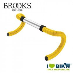 Nastro Manubrio old style Brooks in gomma Cambium Giallo shop online