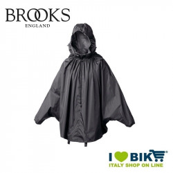 Mantellina antipioggia Brooks Cambrige nera online bike shop
