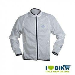 White wind-resistant BRN sleeve long jacket
