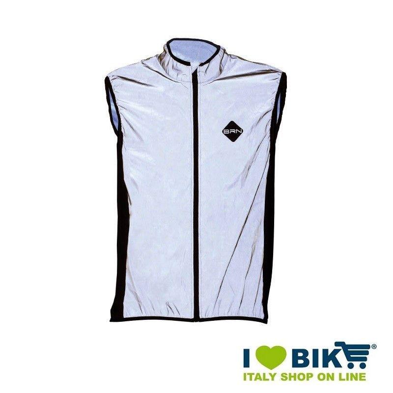 Reflective wind-resistant BRN Sleeveless jacket