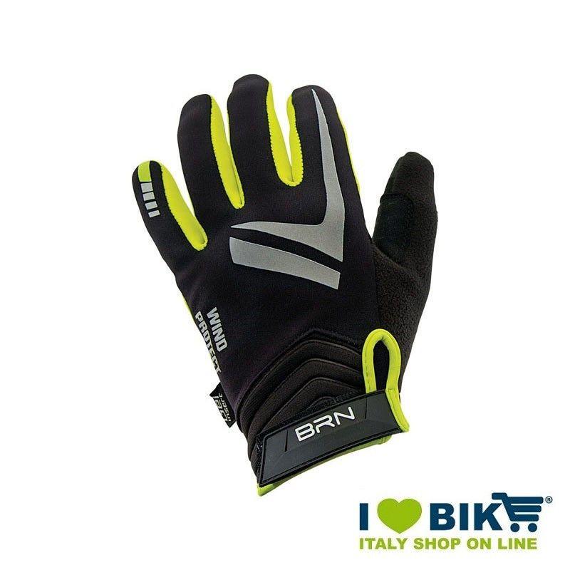 Guanti Invernali per bicicletta BRN Wind Protect giallo fluo online shop