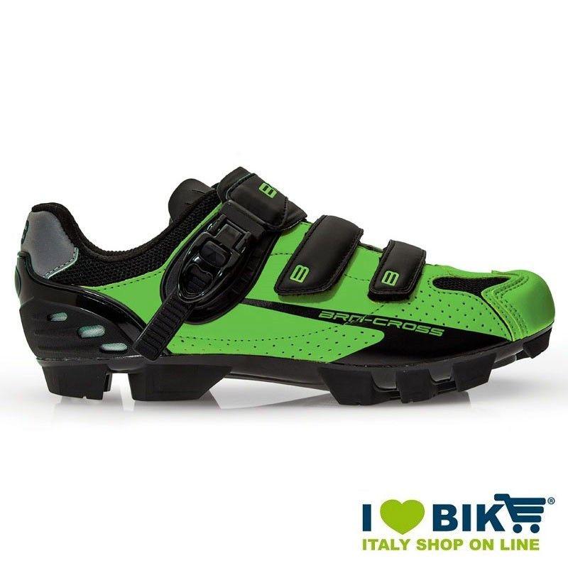 BRN Cross MTB shoes green fluo- black bike store