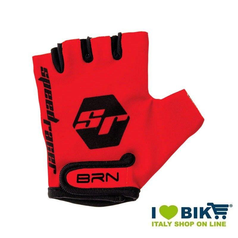 Guanti BRN kid Speed Racer rossi accessori bicicletta vendita online