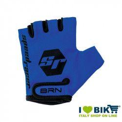 Guanti BRN kid Speed Racer blu accessori bicicletta vendita online