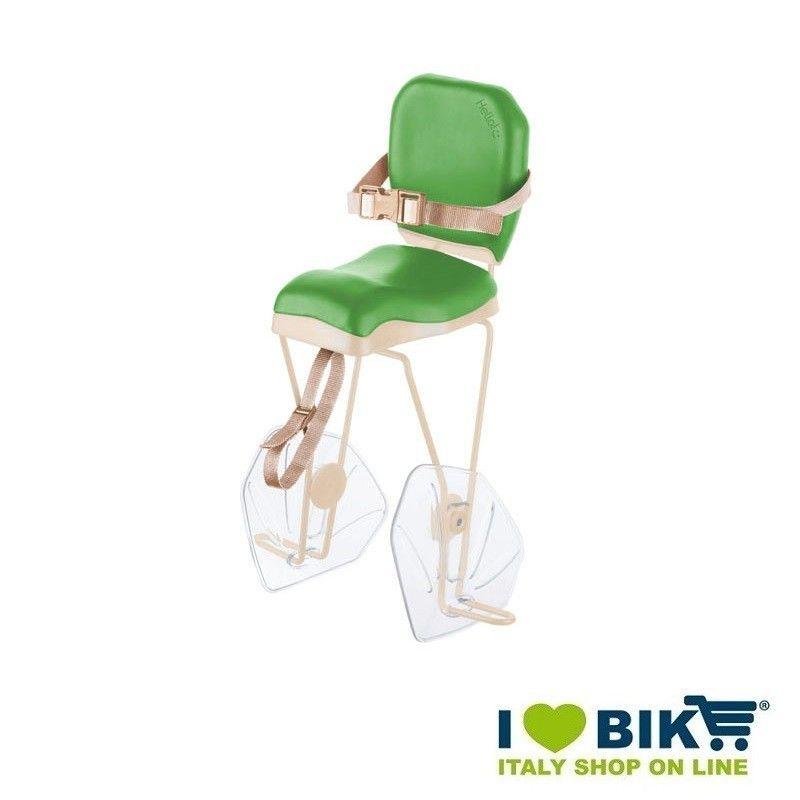 Seggiolino bici BRN HELLO Verde - Crema al portapacco