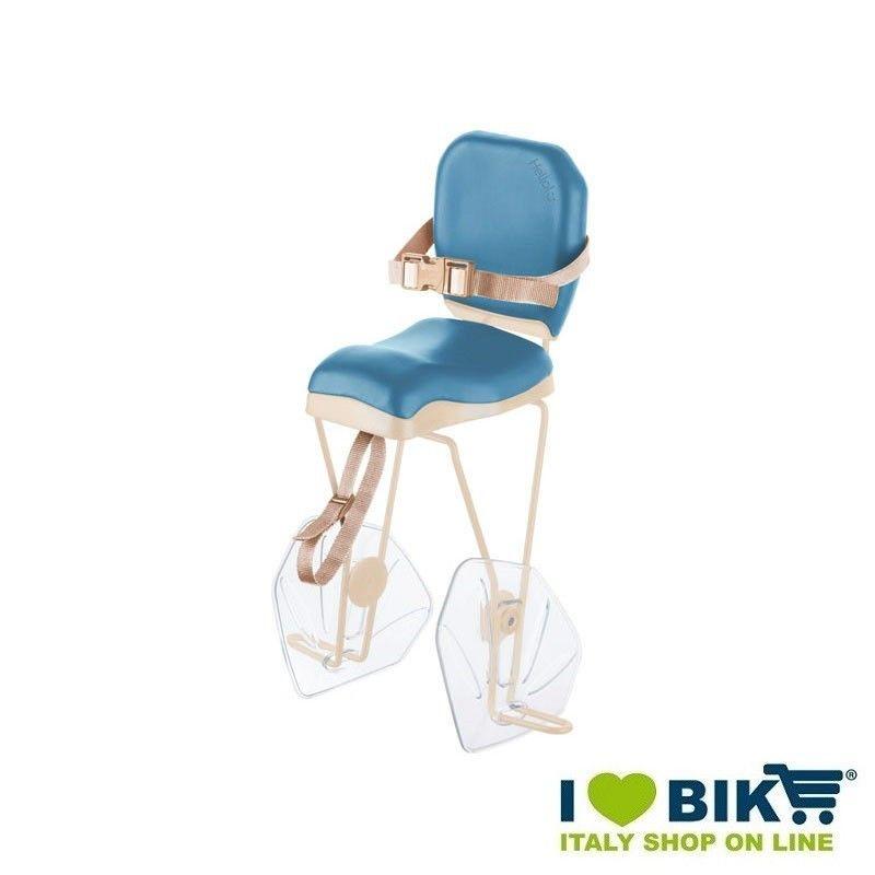 Seggiolino bici BRN HELLO Azzurro - Crema al portapacco