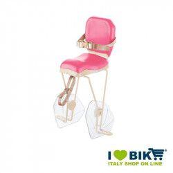 Seggiolino bici BRN HELLO Rosa - Crema al portapacco