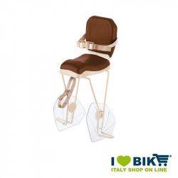 Seggiolino bici BRN HELLO Miele - Crema al portapacco