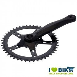 42 teeth black aluminium crankset for bike