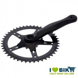 46 teeth black aluminium crankset for bike