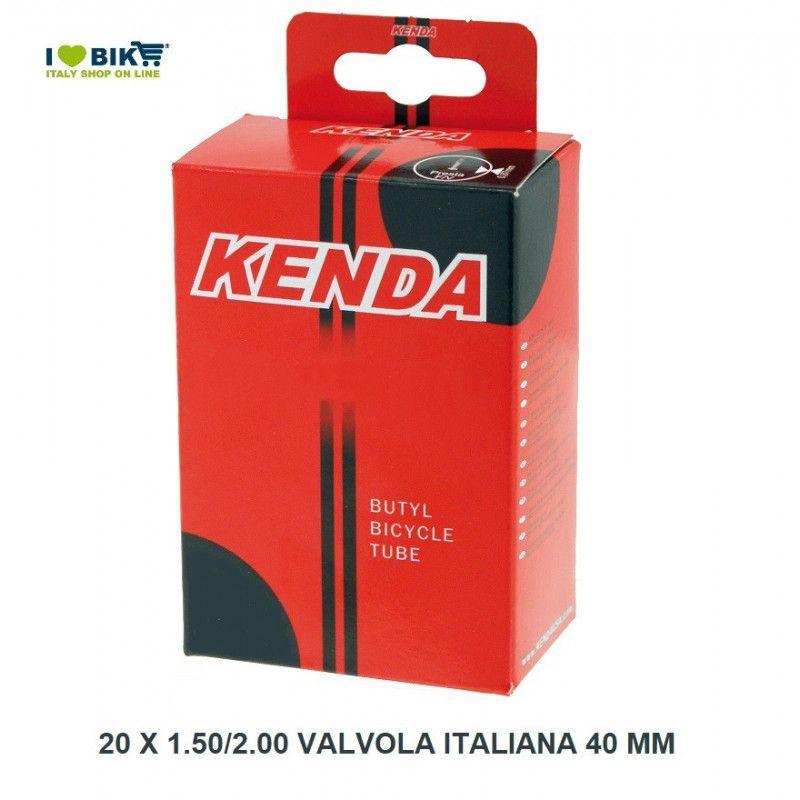 Camera d'aria  20 x 1.50/2.00 valvola italiana 40 mm