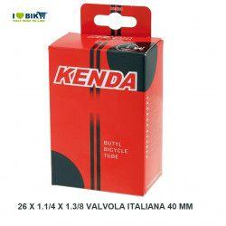 Camera d'aria misura  26 x 1.1/4 x 1.3/8 valvola italiana 40 mm