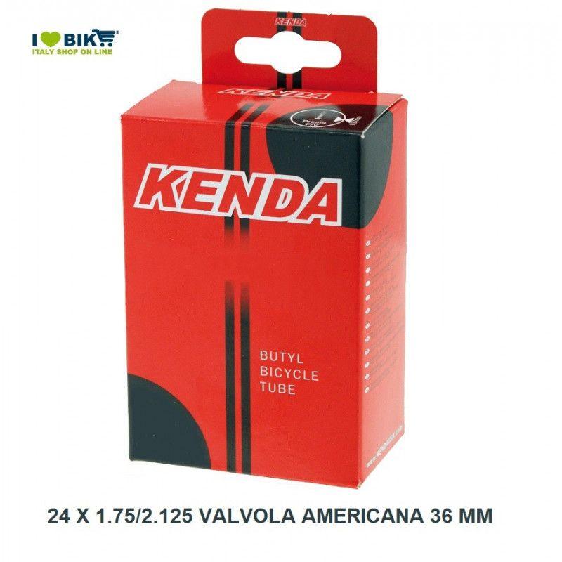 Camera d aria misura 24 x 1.90/2.125 valvola americana 36 mm  - 1