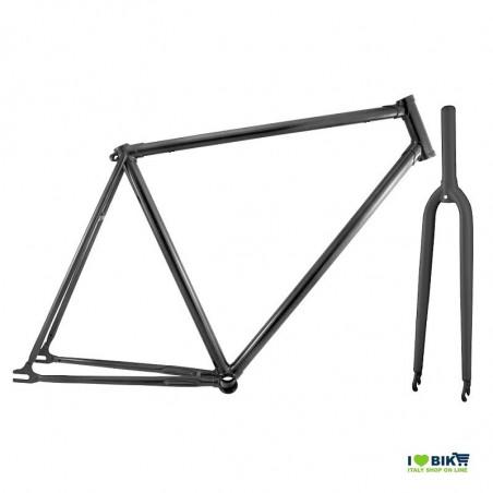 telaio bici fixed nero