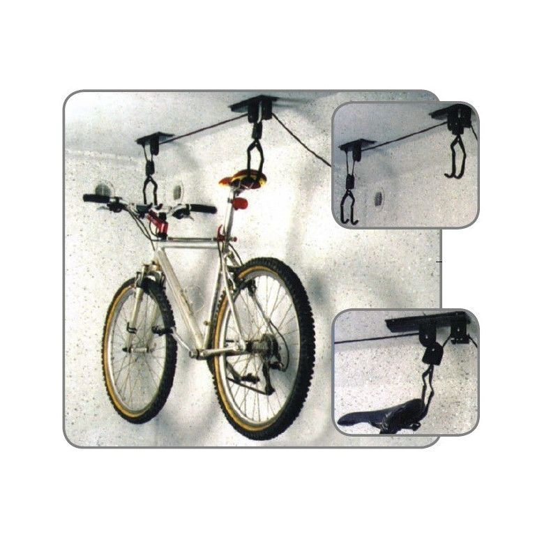 Portaciclo ceiling with pulley to raise / lower the bike  - 1