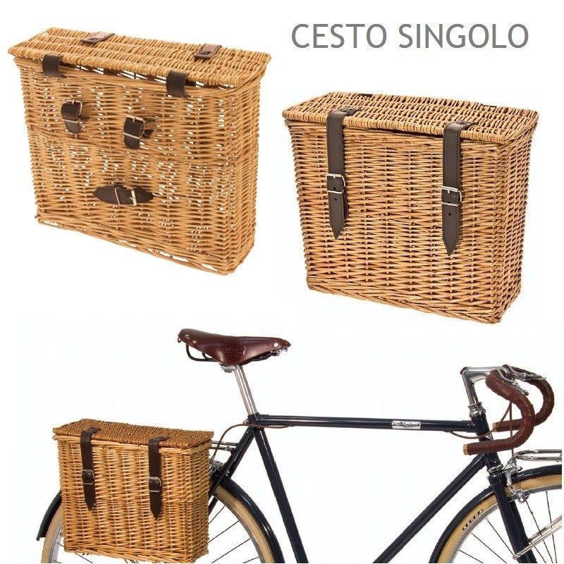Amarcord Rear Bike Basket Wicker Wicker Bike Baskets Bike