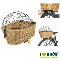 Wicker basket rear pet port