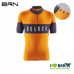 BRN VELOCE Vintage jersey, short sleeves, yellow ochre