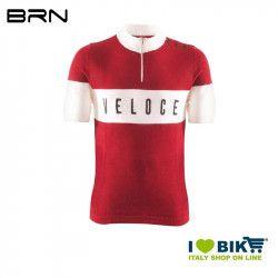 BRN VELOCE Vintage jersey, short sleeves, red, 2019