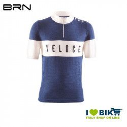 BRN VINTAGE Veloce jersey, short sleeves, blue, 2019