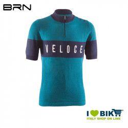BRN VINTAGE Veloce jersey, short sleeves, Aquamarine, 2019