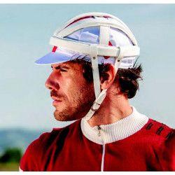 Casco Ciclismo BRN VINTAGE Veloce in vinpelle, taglia unica 60 cm, bianco