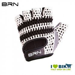 Cycling Gloves BRN VINTAGE Veloce, cordura and synthetic leather, white