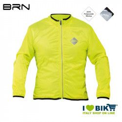 Yellow fluo wind-resistant BRN sleeve long jacket