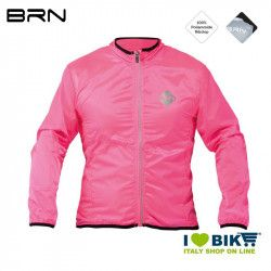 Fluo Fucsia wind-resistant BRN sleeve long jacket