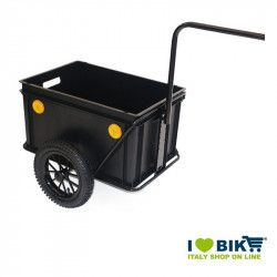 Roland Mini-Boy trailer, without cover, plastic, with towbar, black  - 1