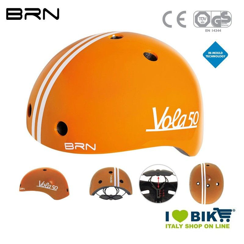 Casco BRN Bimbo Vola 50, Arancione, 2019