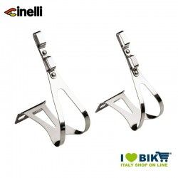Cinelli DUO stell clips compatible with double straps  - 1