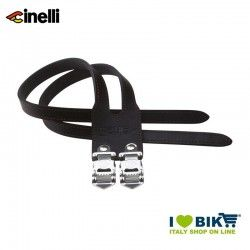 Cinelli DUO leather straps, black
