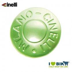 Tappi in alluminio anodizzato per nastri manubrio, 2Pz, Verde