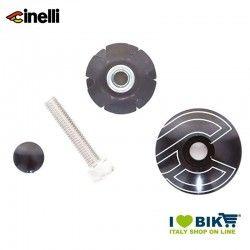 Tappi forcella 1 1/8 32mm in lega di alluminio, nero + ragnetto