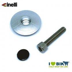 Tappi forcella 1 1/8 32mm in lega di alluminio, argento
