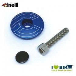 Tappi forcella 1 1/8 32mm in lega di alluminio, Blu