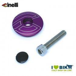 Tappi forcella 1 1/8 32mm in lega di alluminio, Viola