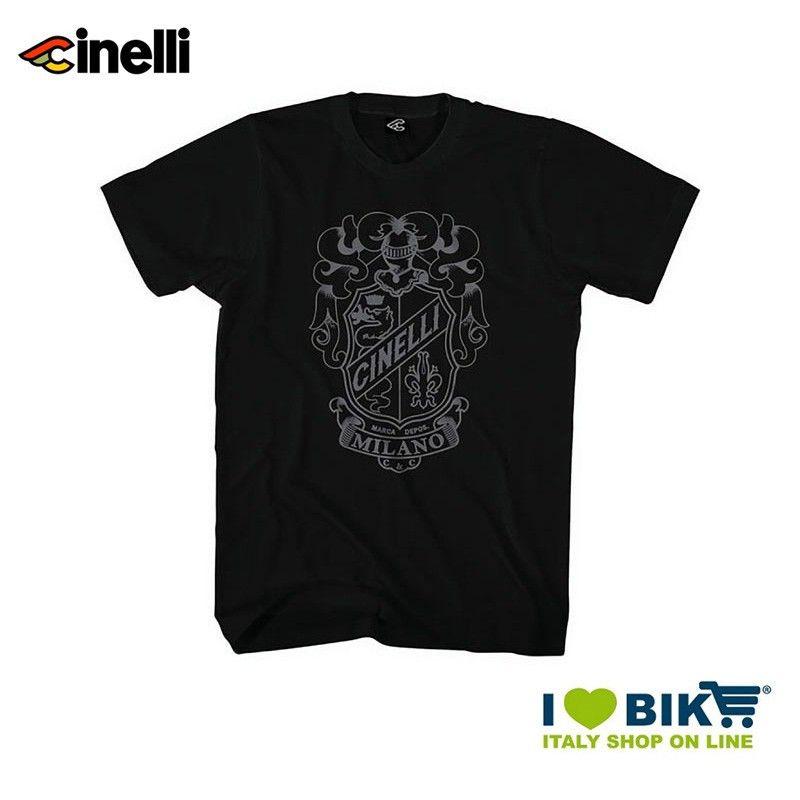 Maglietta Cinelli Crest maniche corte, in cotone, nera