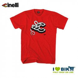 T-shirt Cinelli Mike Giant, cotton, short sleeves, red