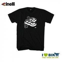 Maglietta Cinelli Mike Giant, maniche corte, in cotone, nera
