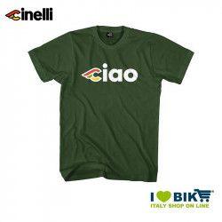 Maglietta Cinelli Ciao, maniche corte, in cotone, verde giaguaro
