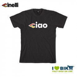 T-shirt Cinelli Ciao, cotton, short sleeves, black